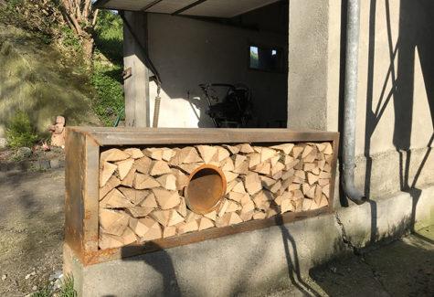 Brennholzgestell